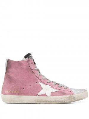 Высокие кроссовки Francy с эффектом потертости Golden Goose. Цвет: розовый