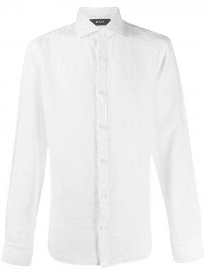 Однотонная рубашка с длинными рукавами Z Zegna. Цвет: белый