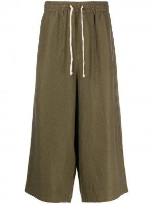 Укороченные брюки с кулиской Société Anonyme. Цвет: зеленый