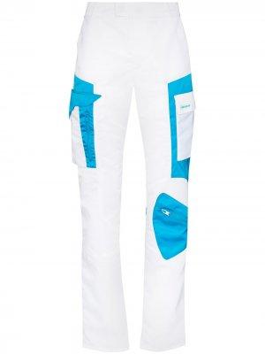 Спортивные брюки  Technical в стиле колор-блок MISBHV. Цвет: белый
