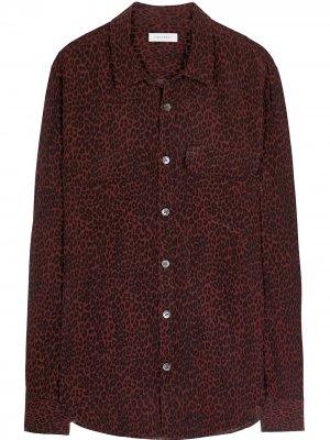 Рубашка  Original с леопардовым принтом EQUIPMENT GENDER FLUID. Цвет: красный