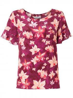 Креповая блузка Anaí Isolda. Цвет: фиолетовый