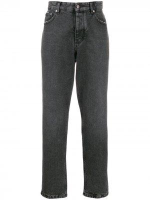 Зауженные джинсы AMI Paris. Цвет: серый
