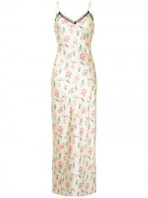 Платье-комбинация Lexi Morgan Lane. Цвет: желтый