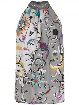 Блузка с цветочным принтом Missoni. Цвет: серый