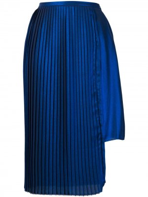 Asymmetric pleated skirt Each X Other. Цвет: синий