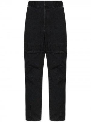 Зауженные джинсы прямого кроя AMBUSH. Цвет: черный