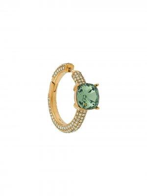 Серьга-кольцо AMBUSH. Цвет: золотистый