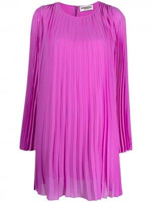 Плиссированное платье-трапеция Essentiel Antwerp. Цвет: розовый
