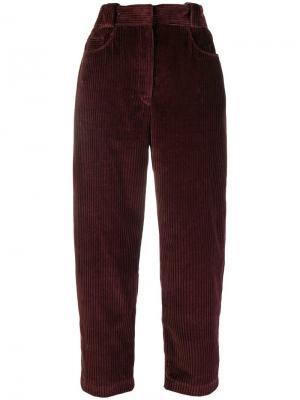 Укороченные вельветовые брюки Cédric Charlier. Цвет: красный