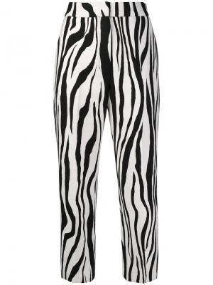 Zebra print trousers Ports 1961. Цвет: белый