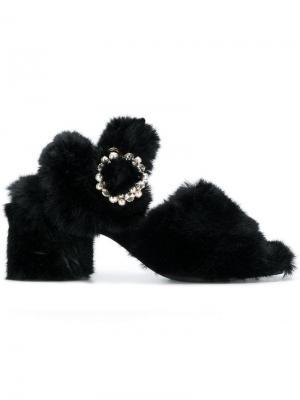 Faux-fur sandals Suecomma Bonnie. Цвет: черный