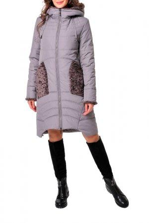 Пальто DizzyWay. Цвет: серый