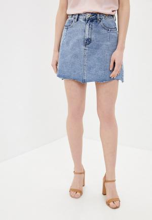 Юбка джинсовая Befree. Цвет: голубой