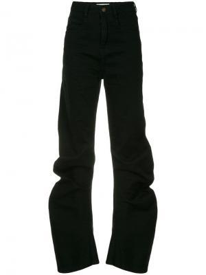 Зауженные джинсы с завышенной талией Ground Zero. Цвет: черный