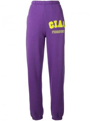 Спортивные брюки с логотипом Fiorucci. Цвет: фиолетовый
