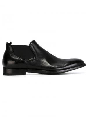 Ботинки по щиколотку с эластичными панелями Alberto Fasciani. Цвет: чёрный