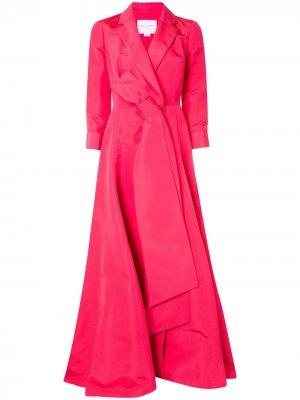 Платье-тренч А-силуэта Carolina Herrera. Цвет: розовый