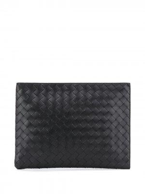 Сумка для ноутбука с плетением Intrecciato Bottega Veneta. Цвет: черный