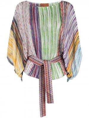 Пляжная блузка в полоску Missoni Mare. Цвет: фиолетовый