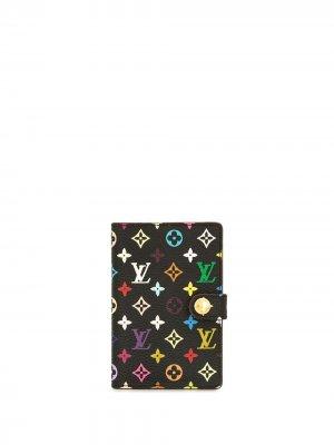 Обложка для блокнота Carnet Deval 2003-го года Louis Vuitton. Цвет: черный