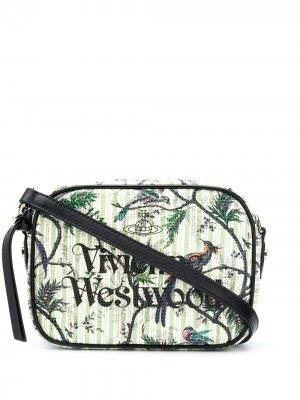 Сумка через плечо с логотипом Vivienne Westwood. Цвет: зеленый