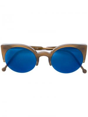 Lucia sunglasses Retrosuperfuture. Цвет: коричневый