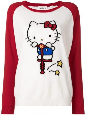 Cashmere Hello Kitty embroidered sweater Chinti & Parker. Цвет: белый