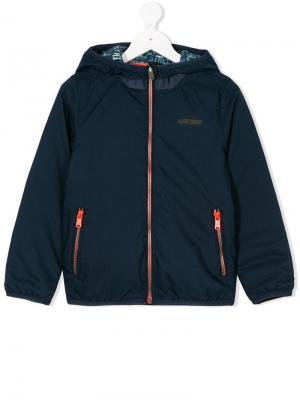 Двусторонняя куртка с капюшоном Vingino. Цвет: синий