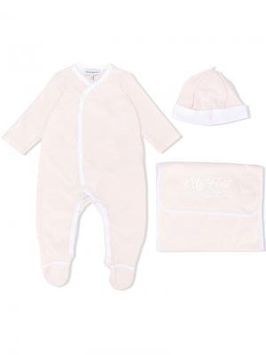 Пижама с V-образным вырезом Emporio Armani Kids. Цвет: розовый