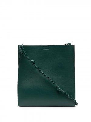Сумка на плечо Tangle среднего размера Jil Sander. Цвет: зеленый