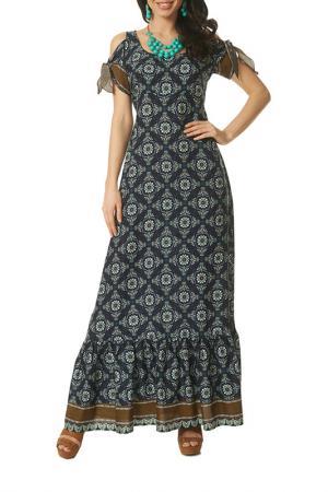 Платье Argent. Цвет: синий