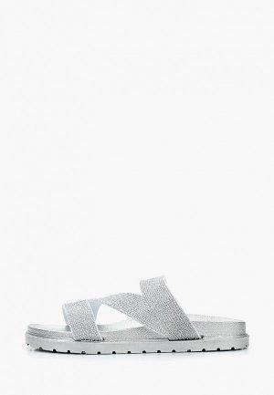 Сабо Style Shoes. Цвет: серебряный