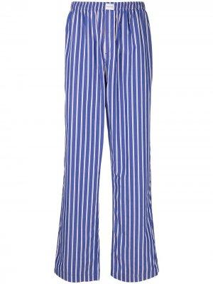 Брюки в пижамном стиле полоску Balenciaga. Цвет: синий
