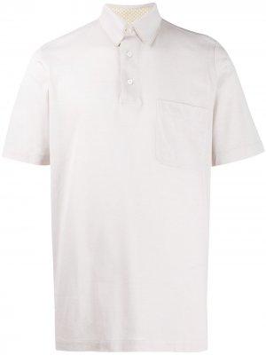 Рубашка поло Brioni. Цвет: нейтральные цвета