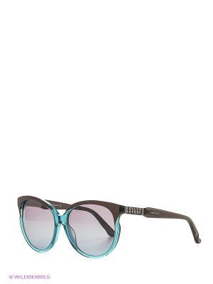 Солнцезащитные очки SK 0081 89T Swarovski. Цвет: голубой, коричневый