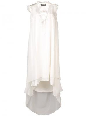Платье без рукавов Jane Thomas Wylde. Цвет: белый