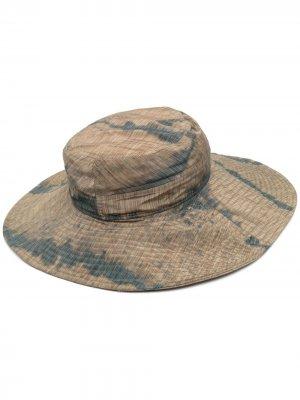 Шляпа с принтом тай-дай HENRIK VIBSKOV. Цвет: зеленый