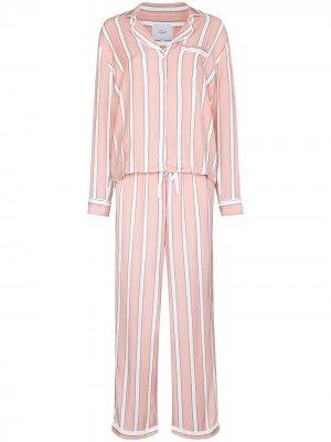 Пижама Clara в полоску Rails. Цвет: розовый