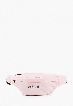 Сумка поясная Outhorn. Цвет: розовый