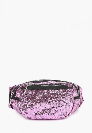 Сумка поясная Pieces. Цвет: фиолетовый