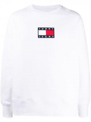 Толстовка с вышитым логотипом Tommy Jeans. Цвет: белый