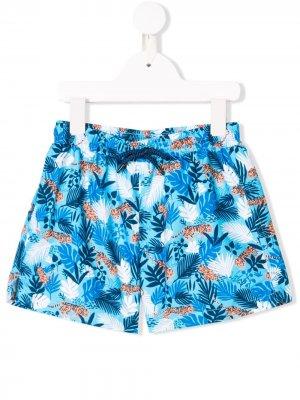 Пляжные шорты с принтом Sunuva. Цвет: синий