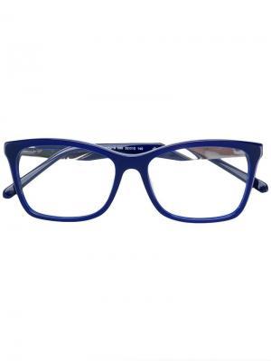 Очки в прямоугольной оправе Swarovski Eyewear. Цвет: синий