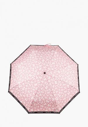 Зонт складной Tous. Цвет: розовый
