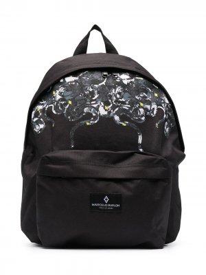 Рюкзак с принтом Marcelo Burlon County Of Milan Kids. Цвет: черный
