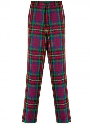 Клетчатые брюки чинос широкого кроя AMI Paris. Цвет: красный