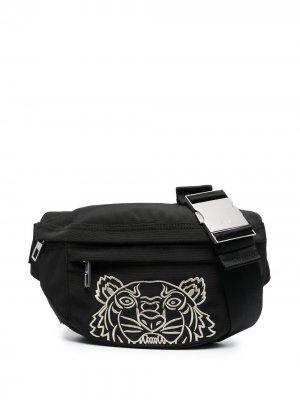 Поясная сумка с вышивкой Tiger Kenzo. Цвет: черный