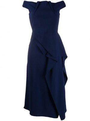 Платье Arch Roland Mouret. Цвет: синий
