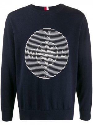 Пуловер с логотипом Tommy Hilfiger. Цвет: синий